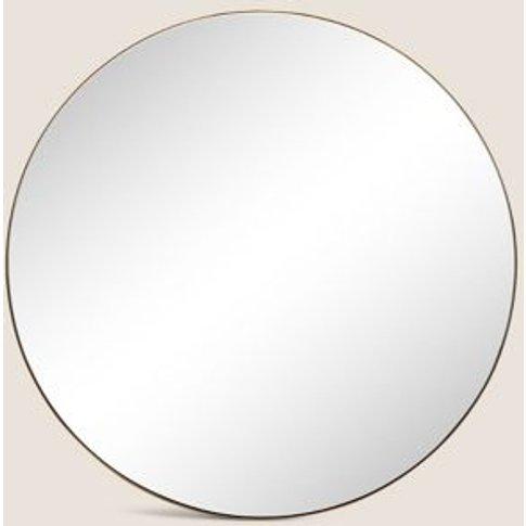 M&S Milan Large Round Mirror - 1size - Black, Black,Silver