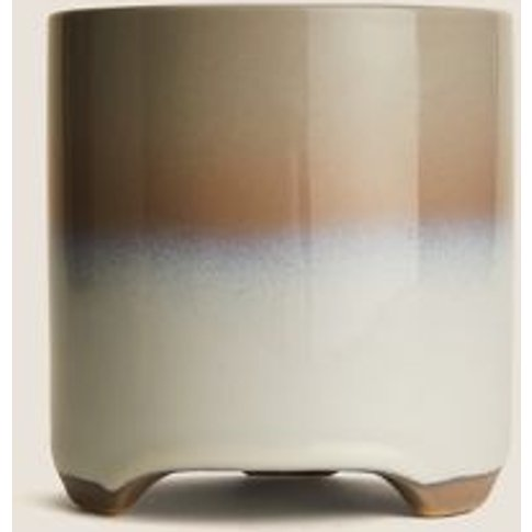 M&S Ceramic Reactive Glazed Small Planter - 1size - ...