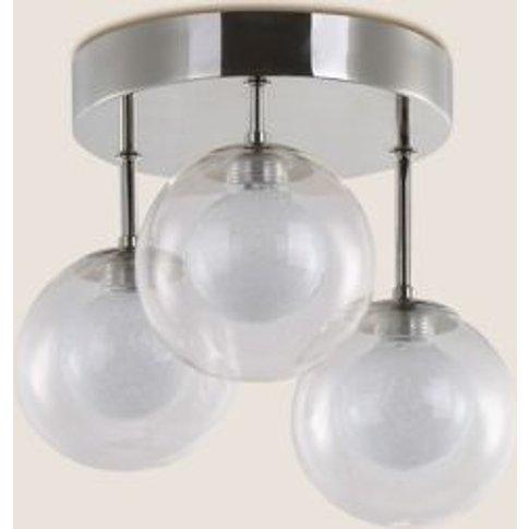 M&S Luna Led Flush Ceiling Light - 1size - Clear, Clear