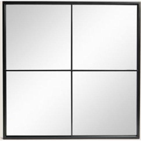 M&S Simple Small Manhattan Mirror - 1size - Black, B...
