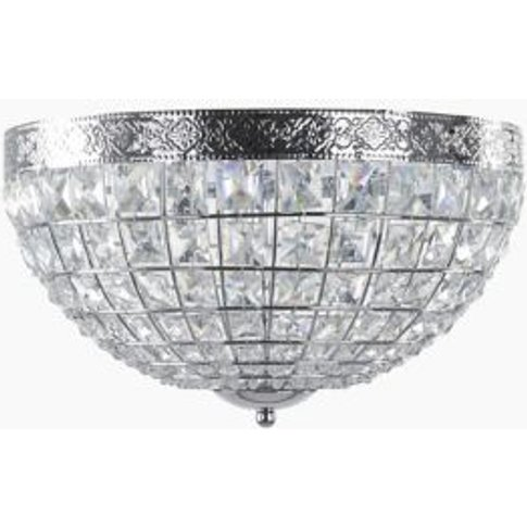 M&S Gem Ball Flush Ceiling Light - 1size - Chrome, Chrome