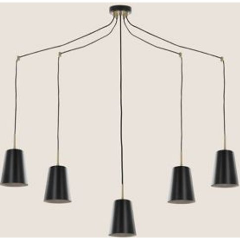 M&S Milan 5 Multi Pendant Light - 1size - Black Mix,...
