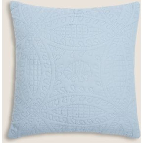 M&S Quilted Pinsonic Cushion - 1size - Chambray, Cha...