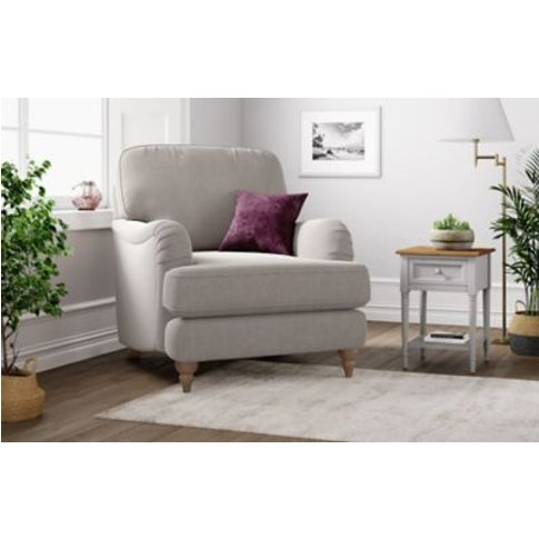 M&S Rochester Armchair - Chr - Silver, Silver,Blue,S...