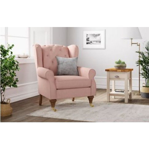 M&S Highland Button Small Armchair - Petit - Blush, ...