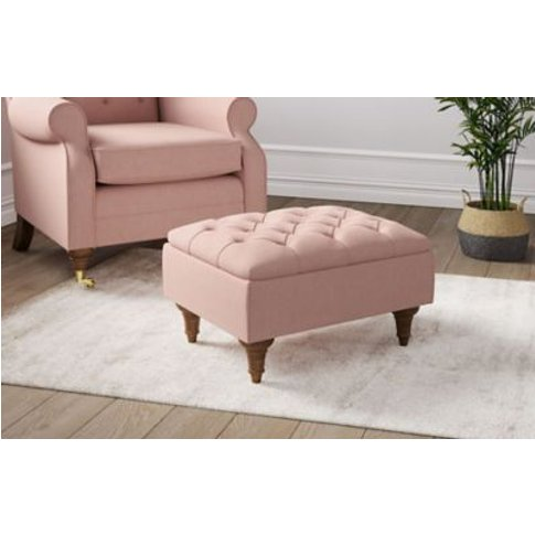 M&S Highland Button Storage Footstool - Ssfts - Ches...