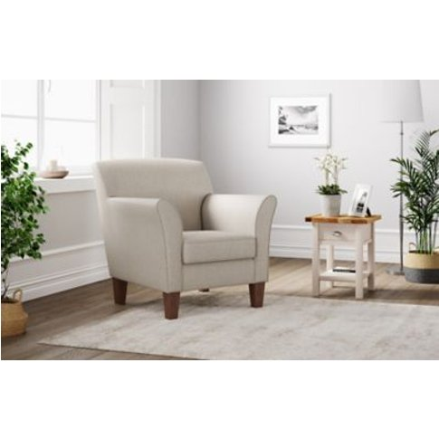 M&S Eden Armchair - Chr - Silver, Silver,Charcoal,Na...