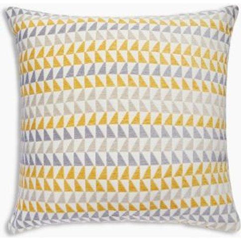 M&S Geometric Chenille Cushion - 1size - Terracotta,...