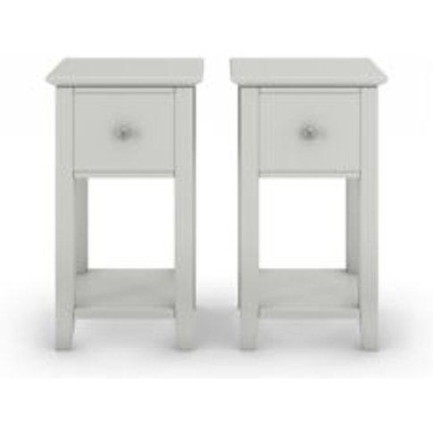 M&S Set Of 2 Hastings Grey Small Bedside Tables - 1s...