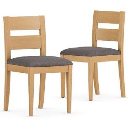 M&S Set Of 2 Stockholm Dining Chairs - 1size - Oak, Oak