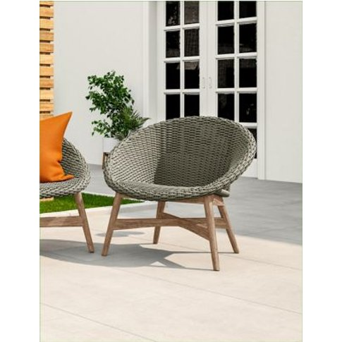 M&S Capri Garden Chair - 1size - Grey, Grey,Navy
