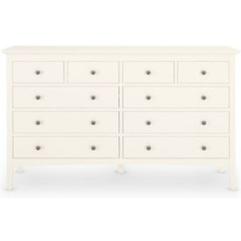 M&S Hastings 10 Drawer Chest - 1size - Grey, Grey