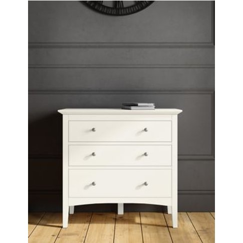 M&S Hastings 3 Drawer Chest - 1size - Mid Blue, Mid ...