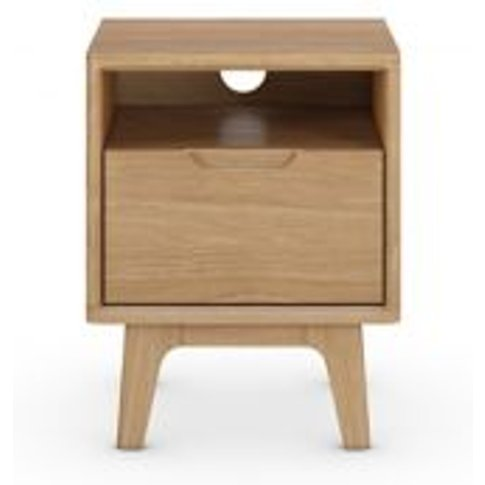 M&S Nord Bedside Table - 1size - Oak, Oak