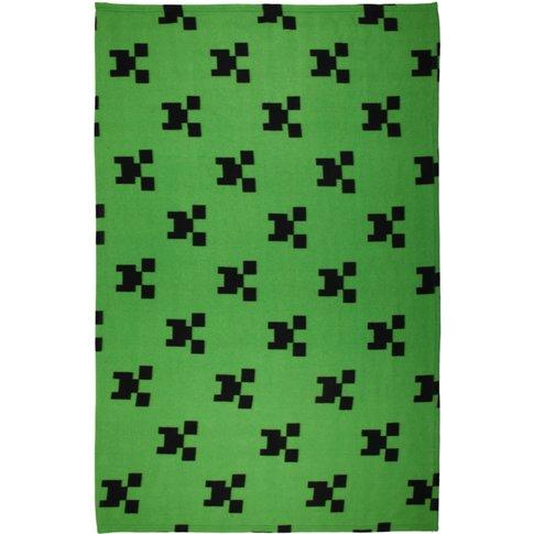 Minecraft Emerald Flannel Fleece Blanket