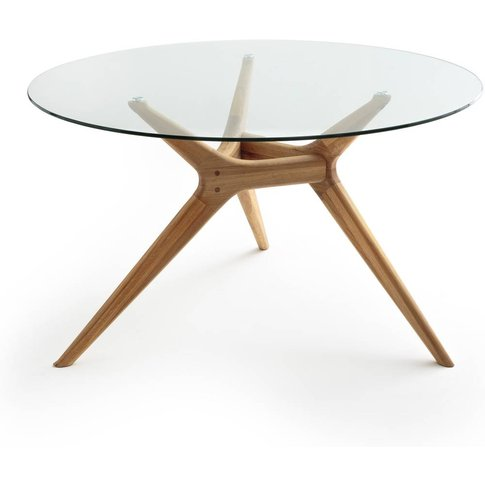 Maricielo Glass/Oak Dining Table