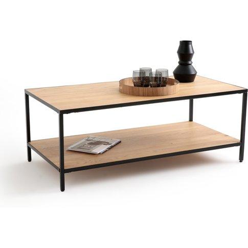 Nova Rectangular Coffee Table In Solid Oak & Metal