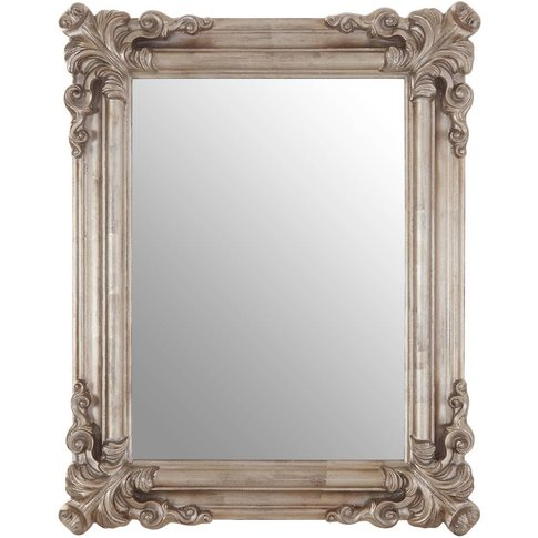 Georgia Wall Mirror, Polyresin / Wood Back, Silver