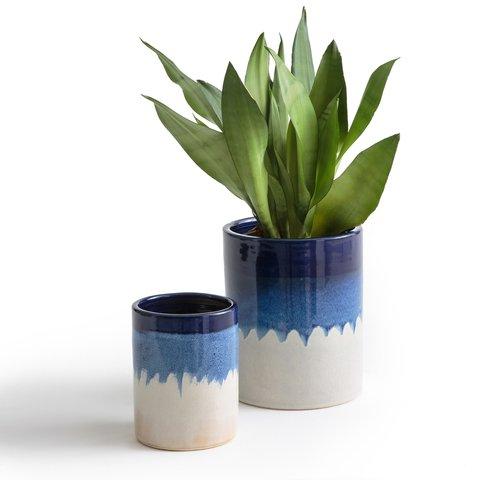 Set Of 2 Tapiwa Tie Dye Ceramic Planters