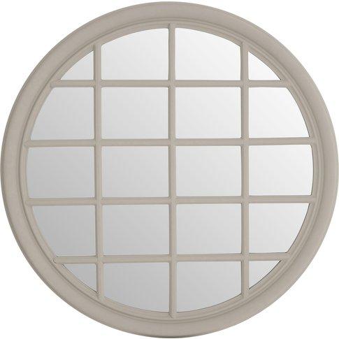 Sanna Wall Mirror, Chinese Oak, Grey Finish