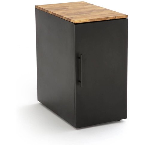 Hiba Oak And Steel Desk Cabinet
