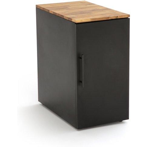 Hiba Oak And Steel Desk Cabinet