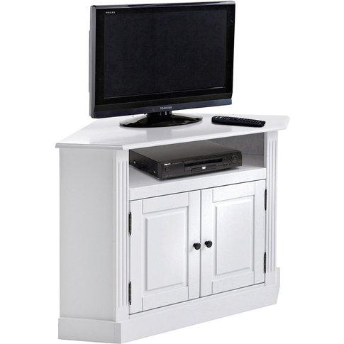 Authentic Style Solid Pine Corner TV Unit