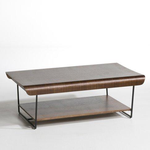 Bardi Walnut & Metal Coffee Table By E. Gallina