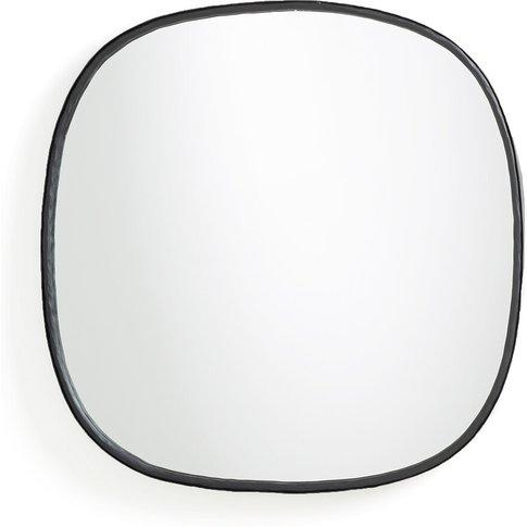 Martela Hammered Wrought Iron Mirror, H60 Cm