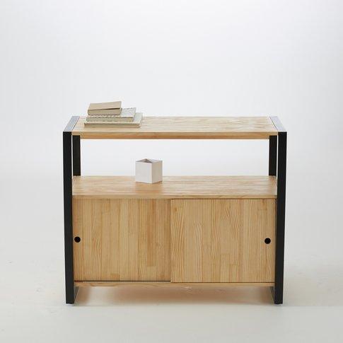 Hiba Solid Pine And Metal Bathroom Storage Unit