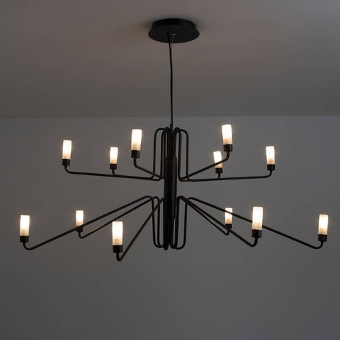 Shandan Metal Industrial 12-Arm Chandelier