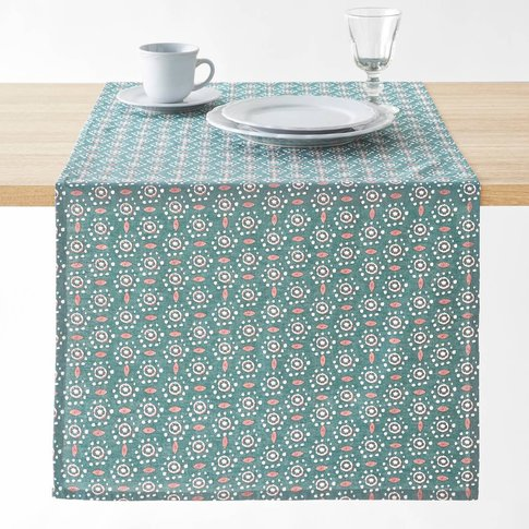 Olã©Ane Cotton And Linen Printed Table Runner