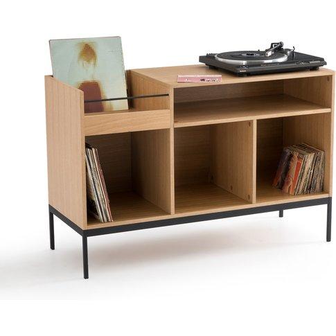 Compo Vinyl Storage Unit in Oak