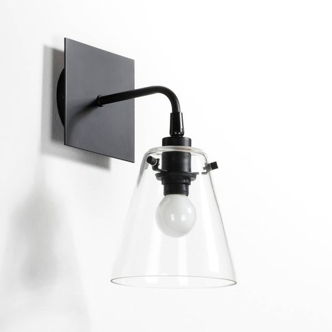 Kiyo Contemporary Metal And Glass Wall Light