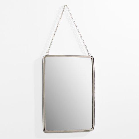 Large Rectangular Barber Mirror