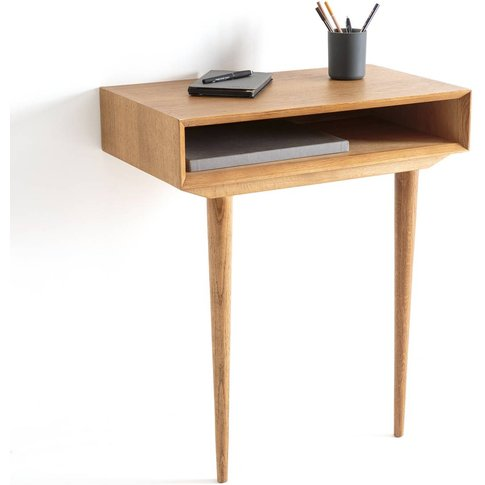 Quilda Oak Wall-Mounted Console Table