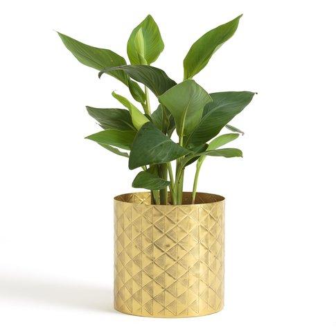 ERIEDUR Brass-Effect Flowerpot