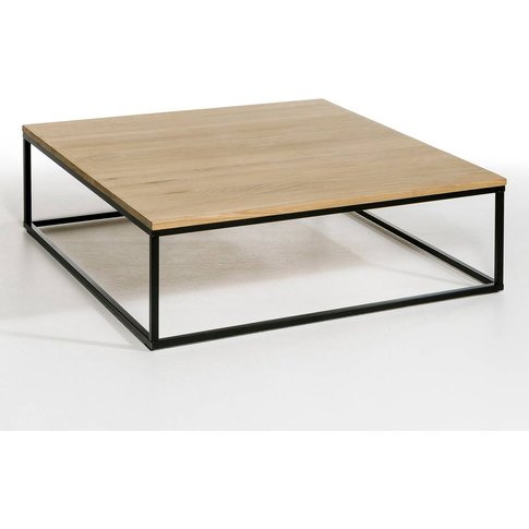 Aranza Solid Oak & Metal Square Coffee Table