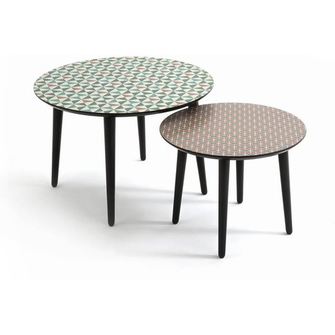 SOFIA Graphic Tabletop Semi-Nesting Coffee Tables (S...