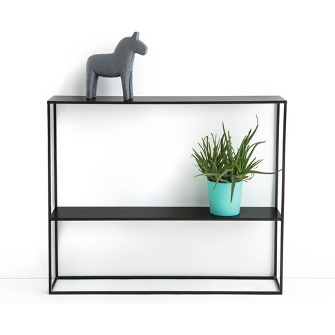 Hiba Metal Two-Tier Console Table