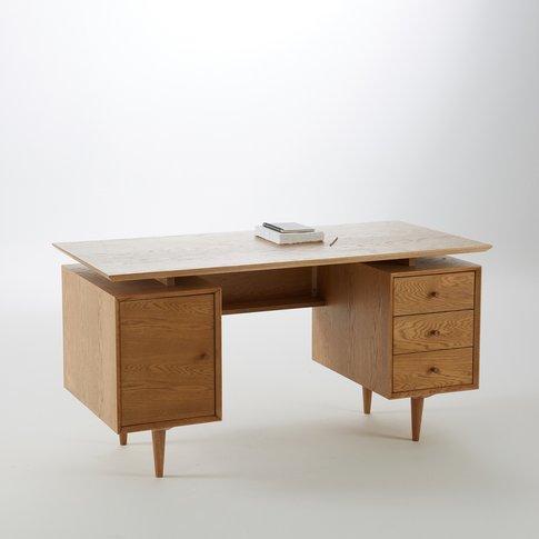 Quilda Oak Desk