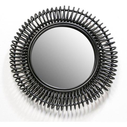 Tarsile Round Rattan Mirror