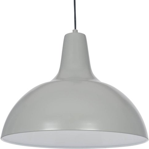 Metal Pendant Ceiling Light in Grey