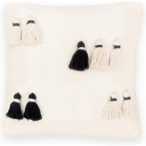 Andirio Monochrome Tassel Cushion Cover