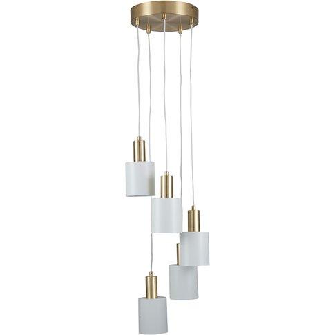 White & Gold Cluster Pendant Ceiling Light