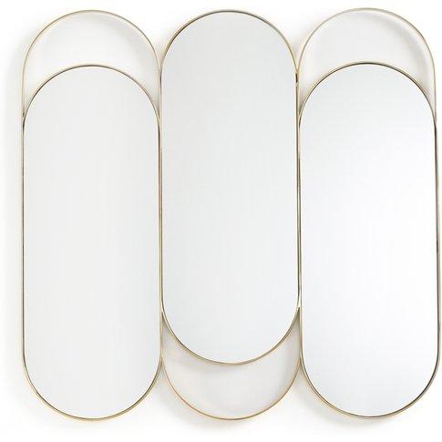 Alama Brass Triptych Mirror