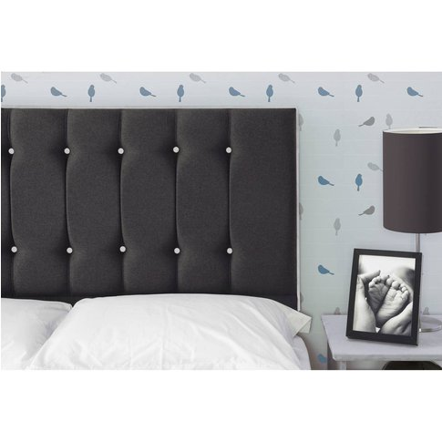 Tamar Headboard - Shetland Black With Grey