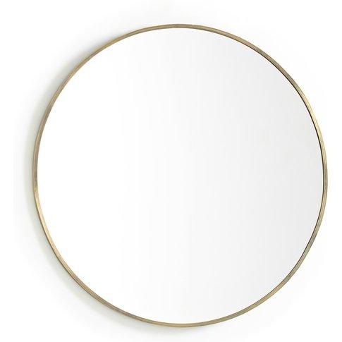 Caligone Gold-Coloured Metal Mirror, Diameter 80cm