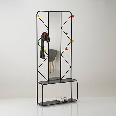 Agama Metal Coat Stand with Mirror