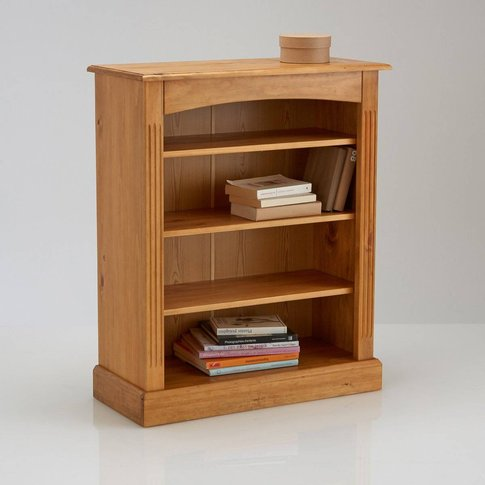 Authentic Style Solid Pine Low Bookcase